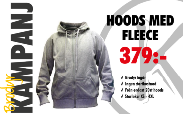 Hoodjacka med fleece