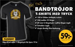Bildan Big Pack: Bandtröjor - T-shirts med tryck