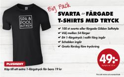 Gildan Big Pack. Svarta och färgade t-shirts