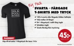 Gildan svarta eller färgade T-shirts med tryck