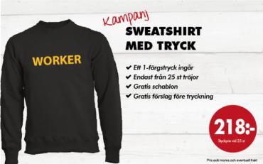 Worker sweatshirt med tryck